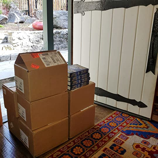 The Last Odyssey Books Boxes of Books