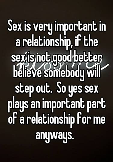 Important a in sex relationship is why so How Important