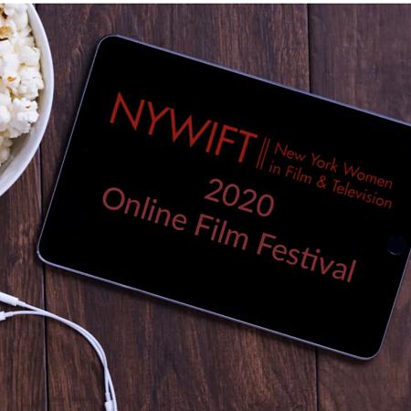shot of New York Women in Film & TV 2020 online film festival logo