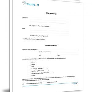 Download Muk Untermietvertrag Proberaume Muster Pdf 52 Kb