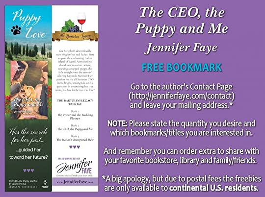 Bookmark - The CEO the Puppy and Me