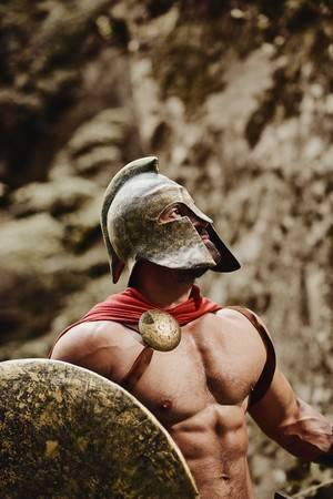 88901118-male-model-in-gladiator-outfit