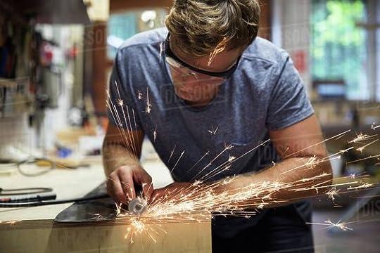 man making metal art - Google Search