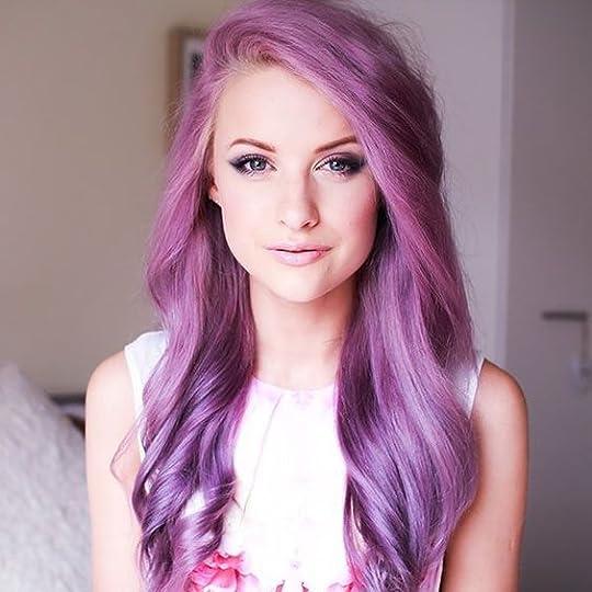 pretty woman with long purple hair - Google Search