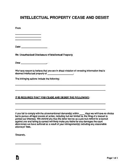 Cease And Desist Letter Copyright Infringement Template from i.gr-assets.com