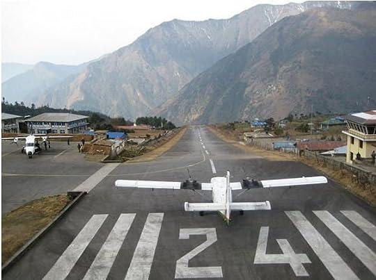 Lukla, Airport Nepal (Base of Mt. Everest) @9383FT, this airport can make Telluride, CO look like a flat pancake :)   Everest base camp trek, Trekking, Everest