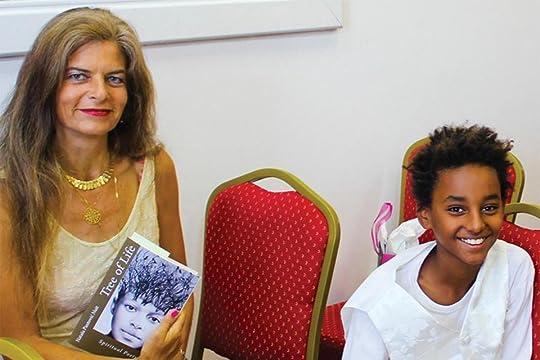 Nataša Pantović at the launch of the novel Tree of Life