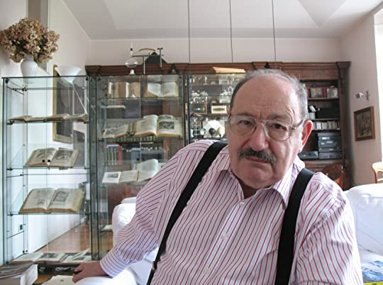 Umberto Eco at home