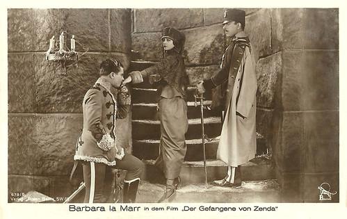 Ramon Novarro and Barbara La Marr in The Prisoner of Zenda (1922)