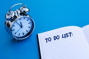 to do list and alarm clock