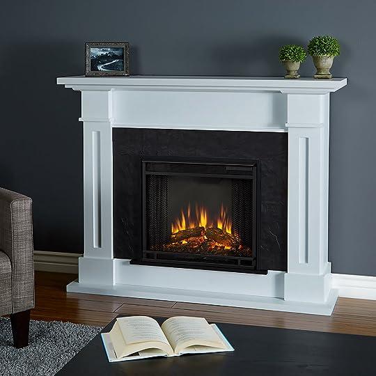 Real Flame Kipling White Fireplace   6030E-W   Real Flame