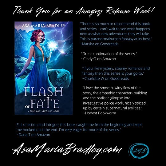 Flash of Fate cover and favorable reviews