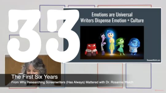 33 The First Six Years from Why Researching Screenwriters Has Always Mattered [Video] (49 seconds)