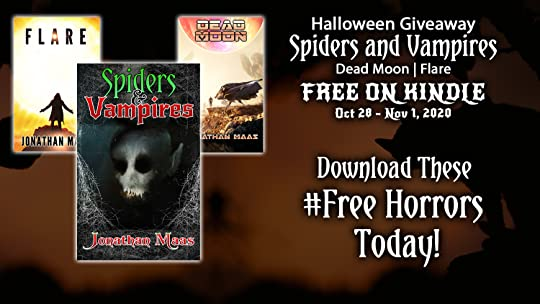 Promo for Halloween giveaway of Spiders and Vampires, Dead Moon and Flare