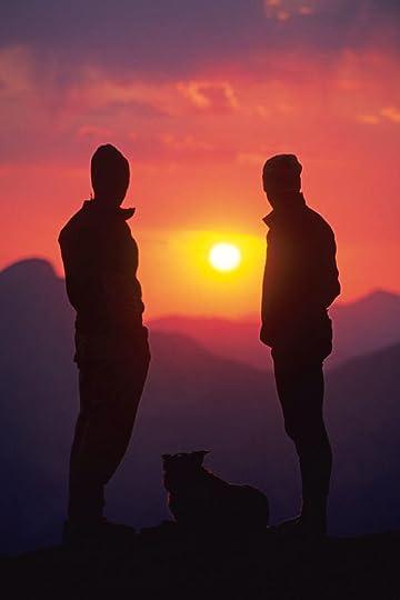 Two Men Watching Sunset Photograph by Kennan Harvey