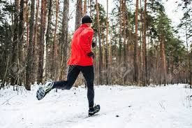 man jogging on a snowy trail - Google Search