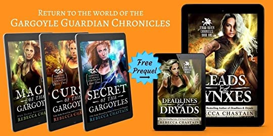 Return to the world of the Gargoyle Guardian Chronicles! Begin the new trilogy today with Leads & Lynxes, and don't miss the free prequel, Deadlines & Dryads.