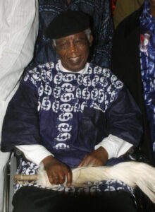 Nigerian writer, 70, Chinua Achebe, who gave us a lesson in writing African fiction westerners, is pictured on January 19, 2009 during a welcoming ceremony at Nnamdi Azikiwe International Airport in Abuja upon his return to Nigeria for the firrst time in over 10 years. Achebe, whose most famous work is 1958's