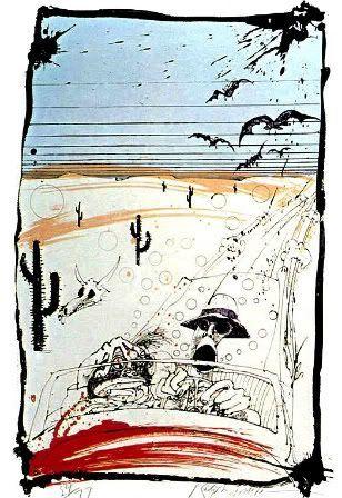 Ralph Steadman Art for Fear & Loathing | Ralph steadman, Ralph steadman art, Fear and loathing