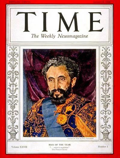 Haile Selassie Time cover 1936