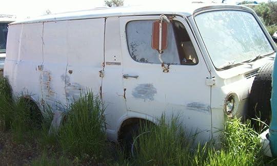 Image result for white van in junkyard