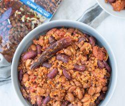 Big Bowl of Vegan Spicy Chili