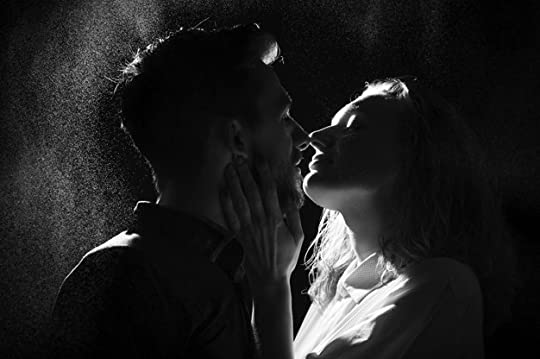 Premium Photo | Black and white silhouette of a kissing couple