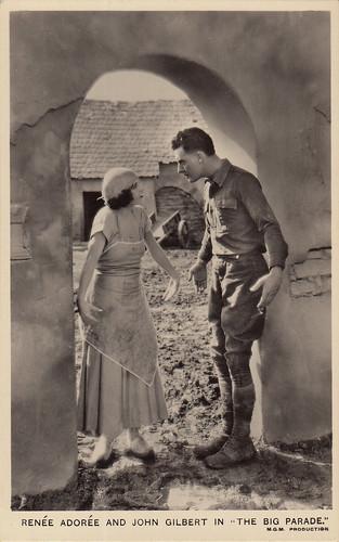 Renée Adorée and John Gilbert, The Big Parade (1925)