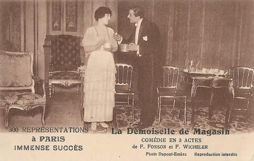 Jules Berry and Jane Delmar in La Demoiselle du magasin (1913)