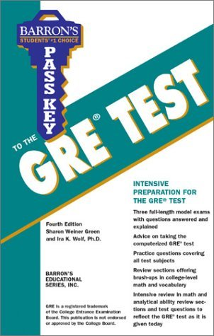 Pass Key to the GRE Test  by  Sharon Weiner Green