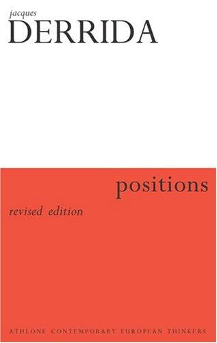 Positions Jacques Derrida