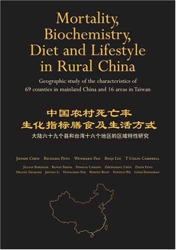 Mortality, Biochemistry, Diet and Lifestyle in Rural China: Geographic Study of the Characteristics of 69 Counties in Mainland China and 16 Areas in Taiwan  by  Junshi Chen