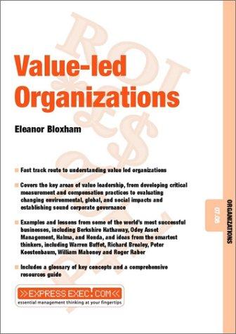 Value-Led Organizations Eleanor Bloxham