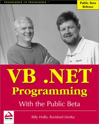 A Preview of VB.NET Programming with the Public Beta  by  Billy Hollis