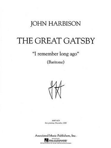 I Remember Long Ago: Baritone and Piano  by  John Harbison