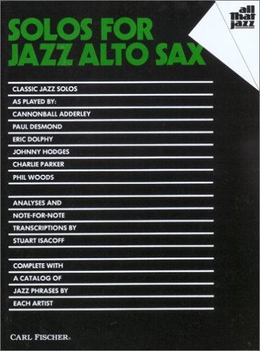 Solos for Jazz Alto Sax  by  Stuart Isacoff