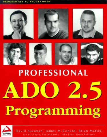 Professional ADO 2.5 Programm Ing David Sussman