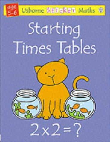 Starting Times Tables Sticker Math Fiona Watt