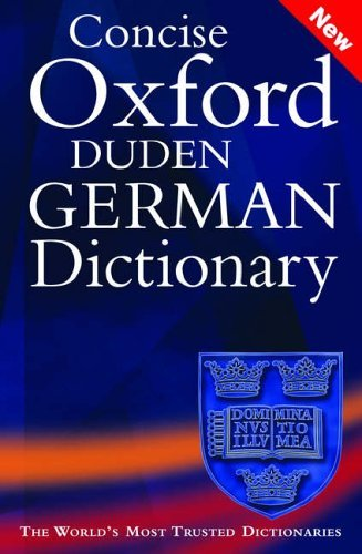 Concise Oxford-Duden German Dictionary Oxford University Press