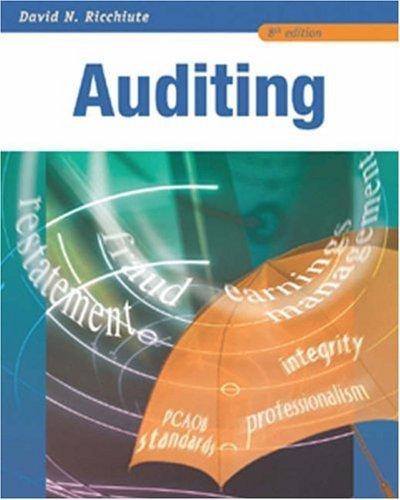 Auditing  by  David Ricchiute