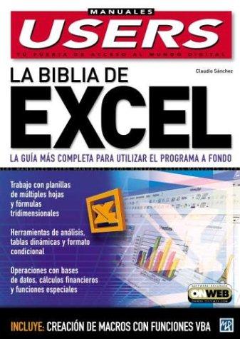 La Biblia de Microsoft Excel XP  by  Claudio  Sanchez