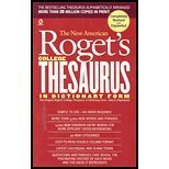 NEW AMERICAN ROGETS COLLEGE THESAURUS IN DICTIONARY FORM  by  Philip D. Morehead