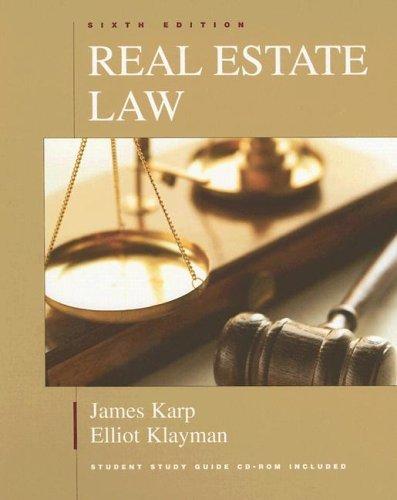 Real Estate Law  by  James Karp