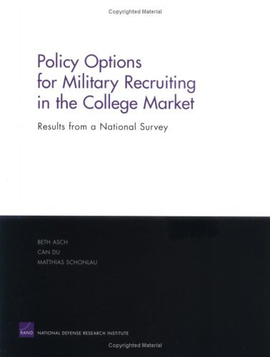 Policy Options For Military Recruiting In The College Market: Results From A National Survey  by  Beth Asch