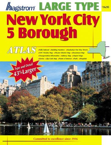 NYC 5 Borough Atlas (Large Scale) - Laminated  by  Hagstrom Map Company