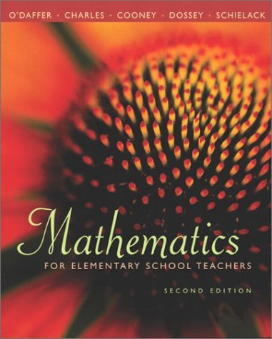 Mathematics For Elementary School Teachers  by  Phares ODaffer