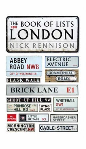 The Book Of Lists: London Nick Rennison
