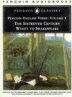English Verse: Volume 1: The Sixteenth Century: Wyatt to Shakespeare Penguin Audiobooks