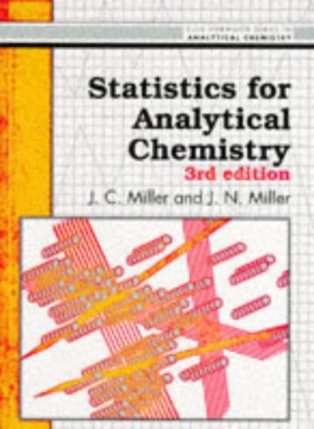 Statistics and Chemometrics for Analytical Chemistry  by  Jane Charlotte Miller