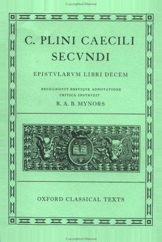 Epistularum Libri Decem  by  Pliny the Elder